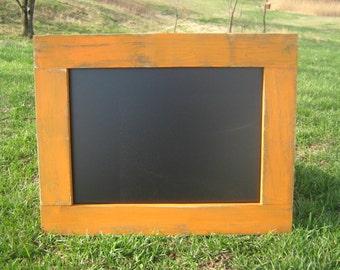 Rustic hanging chalkboard orange distressed chalk board wedding office home chalkboard organization data center