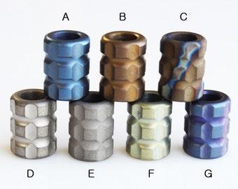 """Paracord Titanium alloy beads """"T-Block"""""""