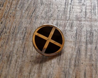 Pin's TETH / Noir-Or / EUDOXIE Motorcycle Gear