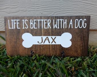 Dog Leash Holder, Custom Dog Leash Holder,  Pet Gift ~ New Puppy Gift ~ New Dog Gift ~ Dog Leash Hook ~ Dog Leash Hanger ~ Dog Leash~