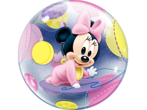 Disney Baby Minnie Mouse Bubble Balloon 22 Birthday
