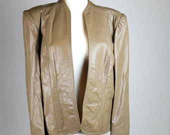 Vintage Leather Ruched Jacket