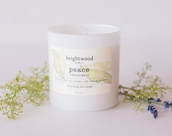 LAVENDER soy candle | relaxing candle | natural candle | baby shower gift | hostess gift
