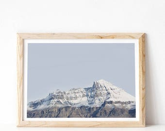 Mountain Print, Rocky Mountains Photograph, Landscape Print, Mountain Wall Art Print, Large Poster, Living Room Wall Art, Digital Download