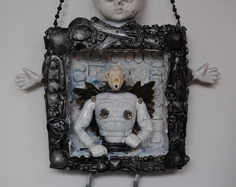 Inclusion Twin. Mixed Media Assemblage Art