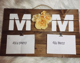 MOM flower photo display // Mother's Day Gift