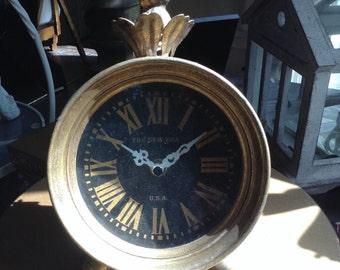French Style Black Face  Roman Numeral Desk Clock