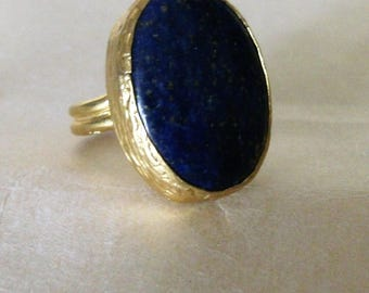 ring adjustable mixed lapis lazuli, mother's day, father's day