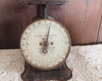 Antique Black Kitchen Columbia Family Scale