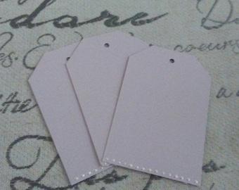 Pretty light purple tags with white satin ribbon