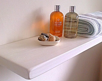 Floating Wall Shelf / Shelves - Pine, Oak, Whites, Wax - 1ft - 6ft - ** FREE UK DELIVERY **