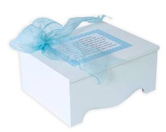 Baby Keepsake Box Baby Memory Box precious baby poem blue stars personalized baby boy gift best baby shower gift