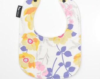Yellow Floral Baby Bib | Infant and Toddler Bib