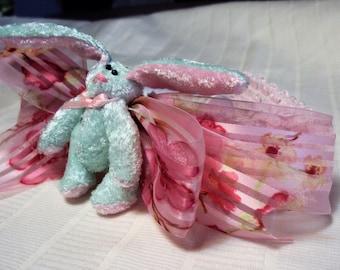 Easter headband, bunny hairbow, crochet headband