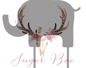 Baby Safari Elephant Silhouette Cake Topper Cake Toppers Cake Decoration Cake Decorating Silhouette Cake Topper Sugar Boo Sugar Boo SugarBoo