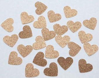 100 Rose Gold Confetti, rose gold wedding, table confetti, heart confetti, rose gold heart confetti, rose gold hearts, rose gold table spray