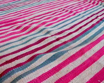 Vintage Wool Handwoven Frazada - Made in Bolivia
