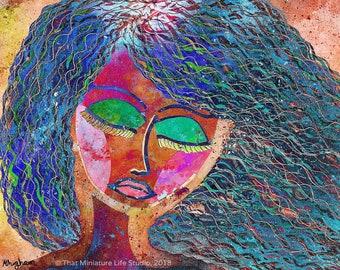 "Vibrant Dreams Art Print, Gallery Wall Print, 8""x10"""