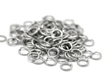 5mm Jump Rings : 100 Antique Silver Open Jump Rings 5mm x .9mm (19 Gauge) -- Lead, Nickel, & Cadmium free  5x.9P.100