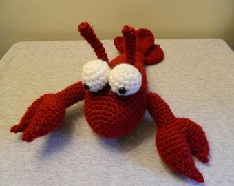 Crocheted Maine Lobster Stuffed Animal