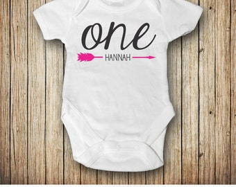 One Year Birthday, One Year Old Girl Birthday Outfit, Girl 1st Birthday Shirt, Baby Girl First Birthday Outfit, Pink, Black