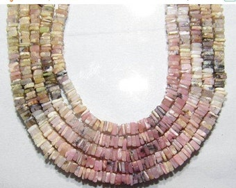 "Natural Pink Peruvian Opal Heishi Shape Beads Size Approx4X5 mm Lenght Approx18 ""inch New Arrival Wholesale price"