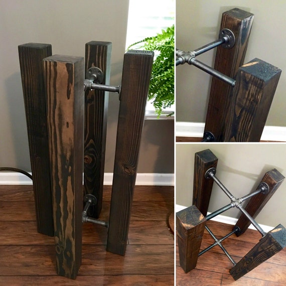 36 Tall Table Base Wood Beam Amp Iron Pipe Round Square