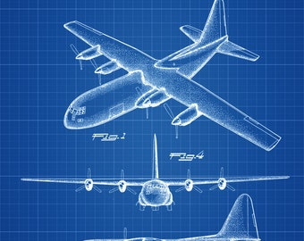 Lockheed C-130 Hercules Airplane Patent - Vintage Airplane, Airplane Blueprint, Airplane Art, Pilot Gift, Aircraft Decor, Airplane Poster,