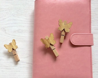 Wooden butterfly clips, planner supplies