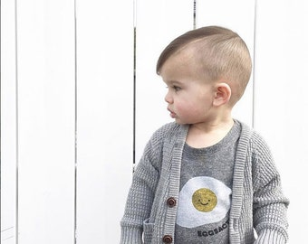 Eggsactly Egg T-Shirt - Gray Organic Triblend ON SALE