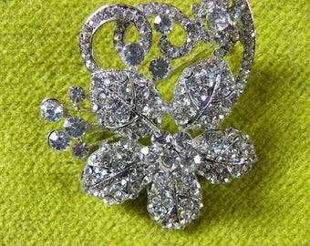 Brilliant Rhinestone Brooch That Shows Like Diamonds.