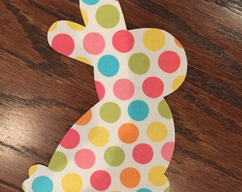 Easter Bunny Iron On Applique, You Choose Fabric