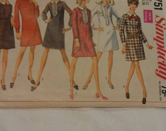 Simplicity Pattern Miss Size 12. No. 7751