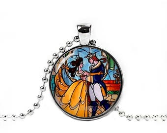 Beauty and the Beast Necklace Beauty and the Beast Pendant Belle and the Beast Necklace
