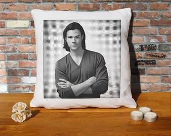 Jared Padalecki Pillow Cushion - 16x16in - White