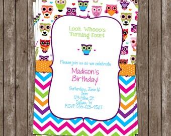Custom Owl Invitation