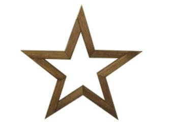 Reclaimed rustic wooden star primitive wood star decor