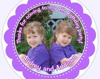 Personalized Children Stickers, Custom PHOTO Stickers, Custom Photo Labels for Birthdays or other Events
