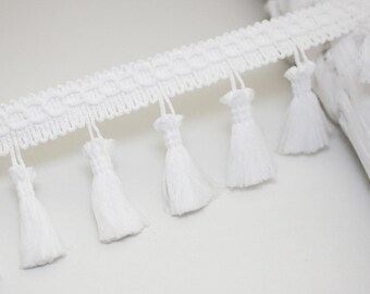 White fringe, 1 meter Ribbon tassel tassel trim