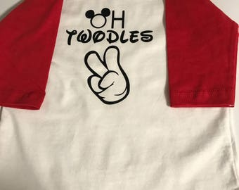 Oh twodles birthday shirt , 2nd birthday , mickey party