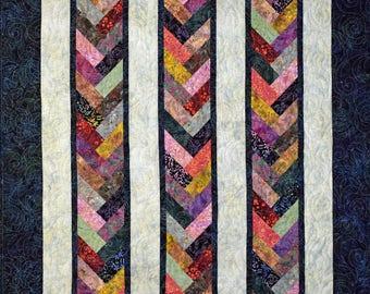 Batik Braid, Modern Quilt