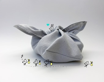 Eco friendly bento bag, zero waste, SMALL SIZE, linen fabric, bread-snack-bento-bulk bag, azuma bag, origami bag