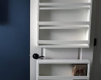Full Door mounted spice rack pantry door spice rack door spice rack back & Spice rack | Etsy