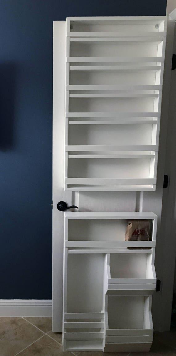 Full Door Mounted Spice Rack Pantry Door Spice Rack Door