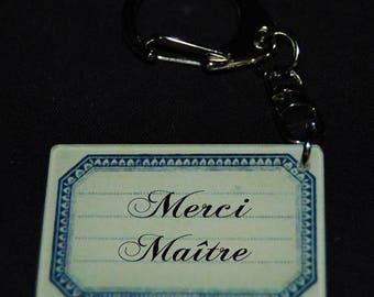 Keychain tag thank you teacher gift teacher vintage
