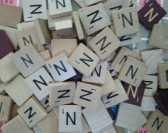 Letter N Scrabble letter tiles 50