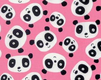 FreeSpirit Pandas-Pink/Cotton/Fabric/Sewing/Quilting