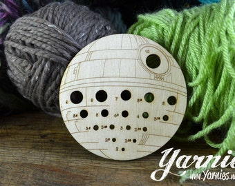 That's No Moon Yarnies Knit and Crochet Tool inspired by the Death Star
