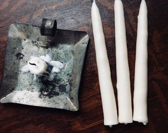 Traditional, Hand-dipped, White, Tallow, Taper Candles