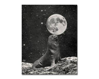 Seal Ya Later Beaches - Collage Art Print